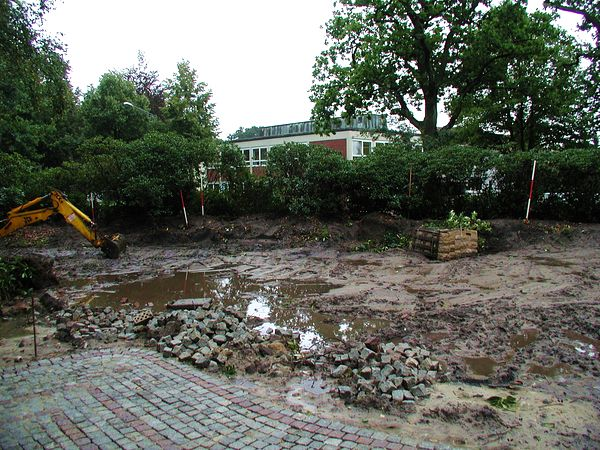 gartengestaltung worpswede - gabionen - mauerbau - ein garten entsteht, Garten und erstellen