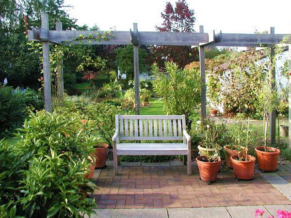 Gartengestaltung Worpswede - Pergola aus Bongossiholz ...
